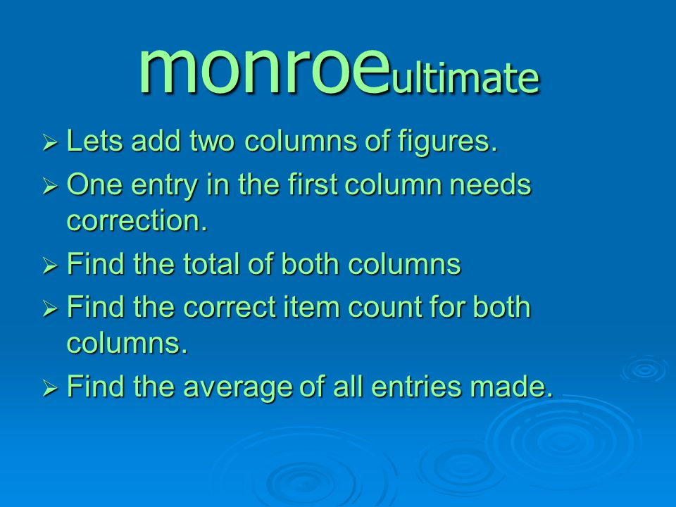 monroeultimate Lets add two columns of figures.