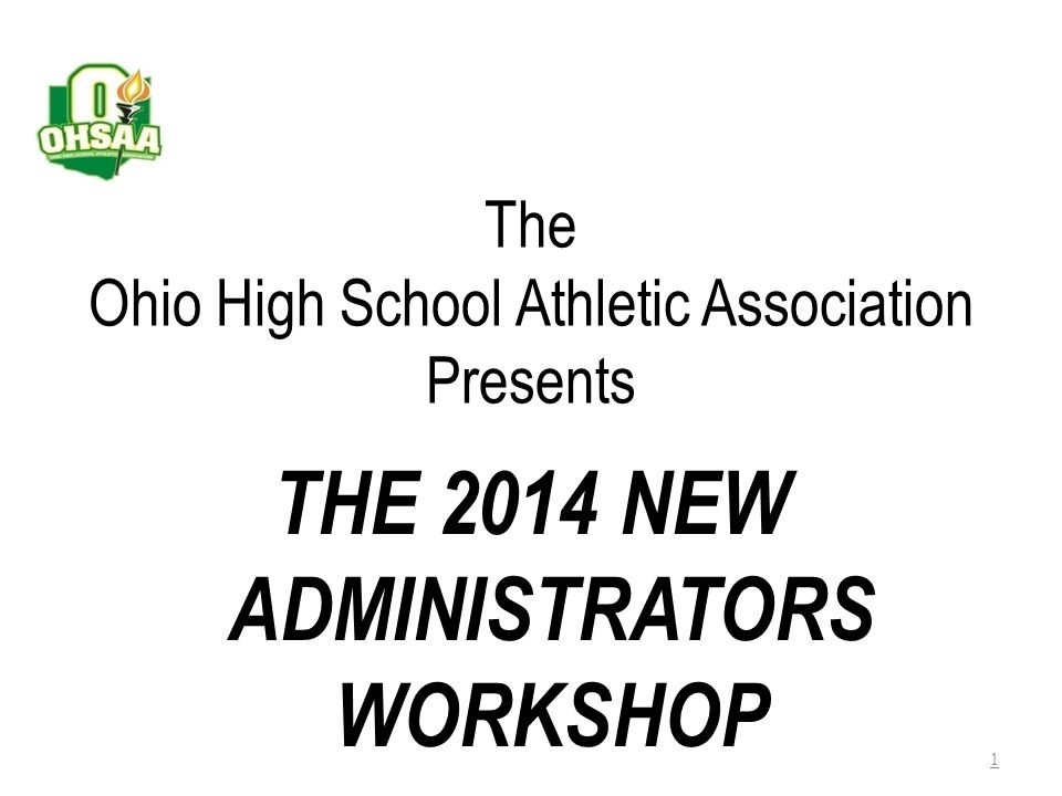 The Ohio High School Athletic Association Presents
