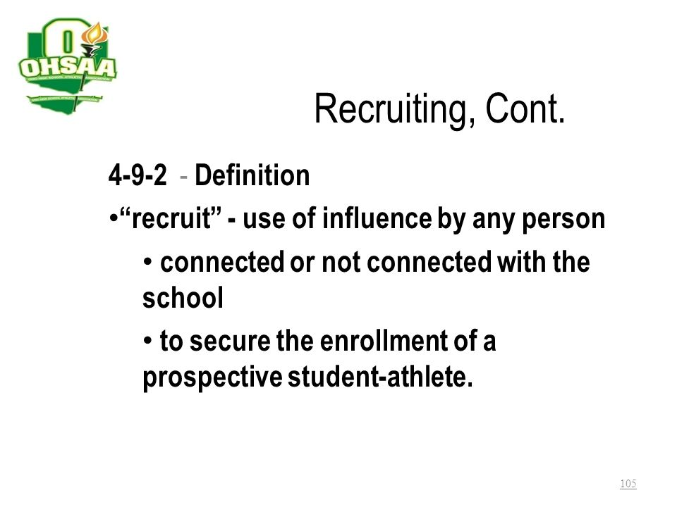 Recruiting, Cont. 4-9-2 - Definition