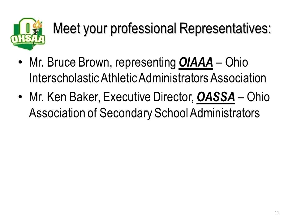 Meet your professional Representatives: