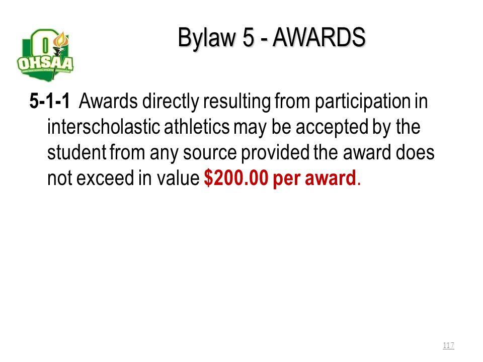 Bylaw 5 - AWARDS