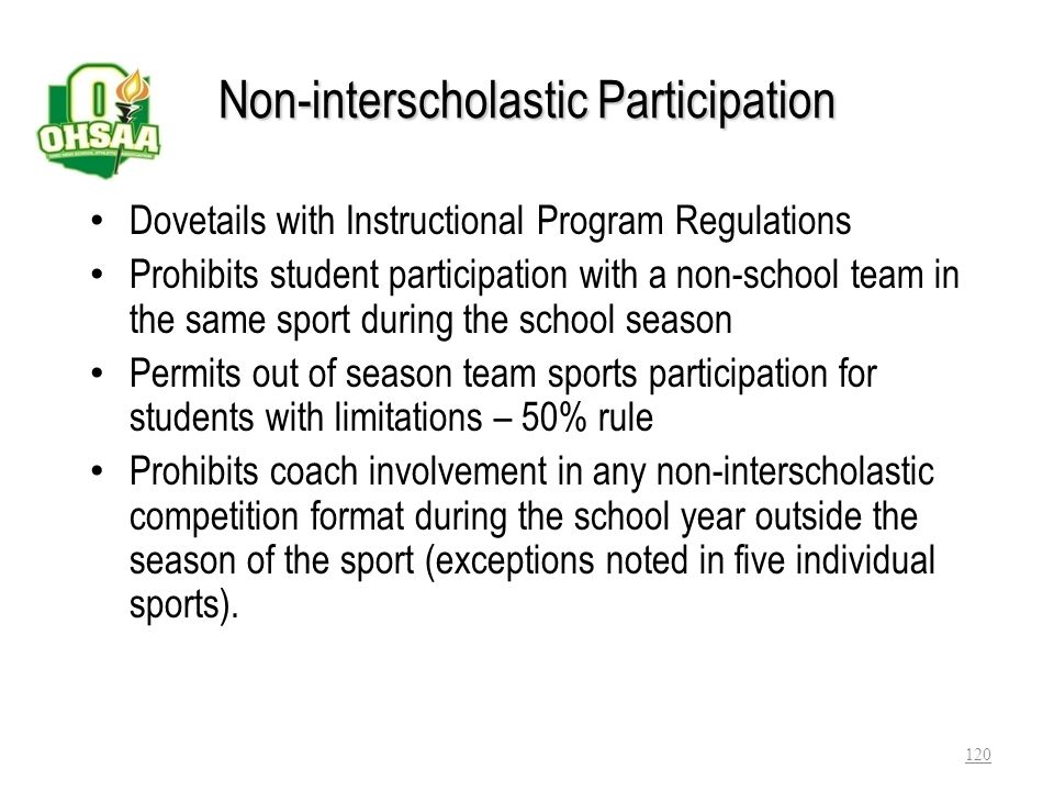 Non-interscholastic Participation