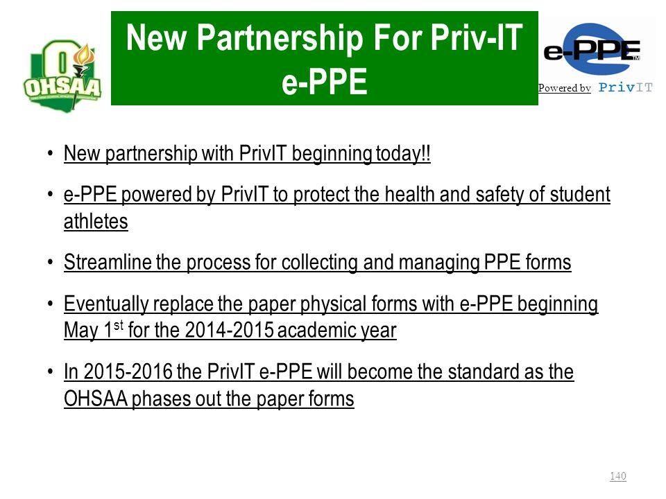 New Partnership For Priv-IT e-PPE