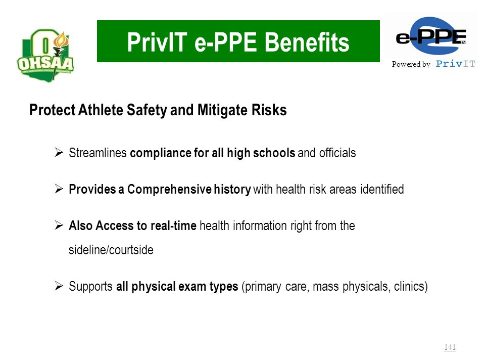 PrivIT e-PPE Benefits Protect Athlete Safety and Mitigate Risks