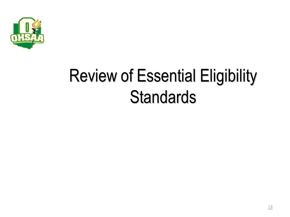 Review of Essential Eligibility Standards