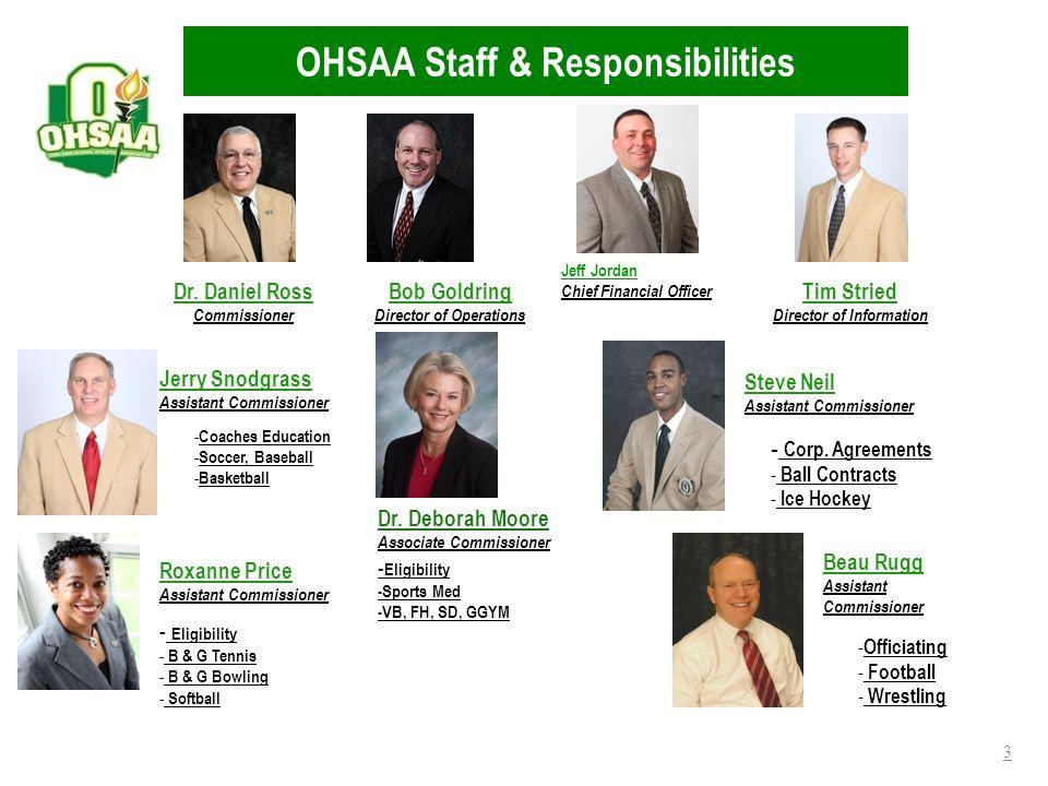 OHSAA Staff & Responsibilities