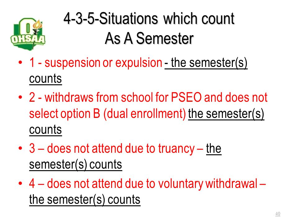 4-3-5-Situations which count As A Semester