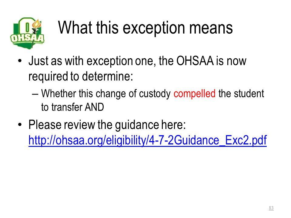 What this exception means
