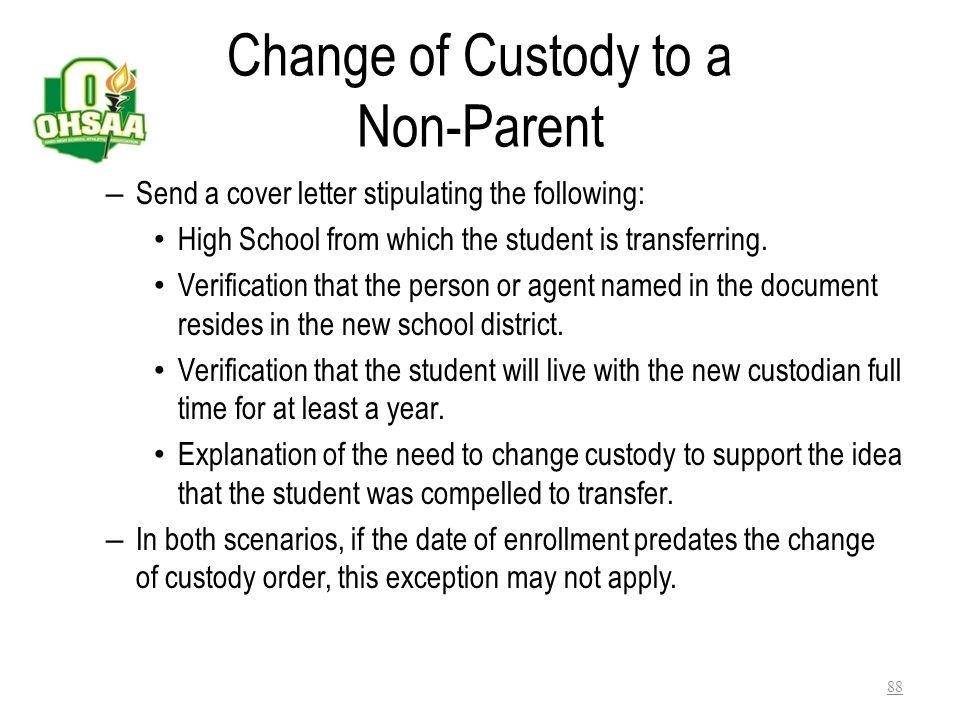 Change of Custody to a Non-Parent