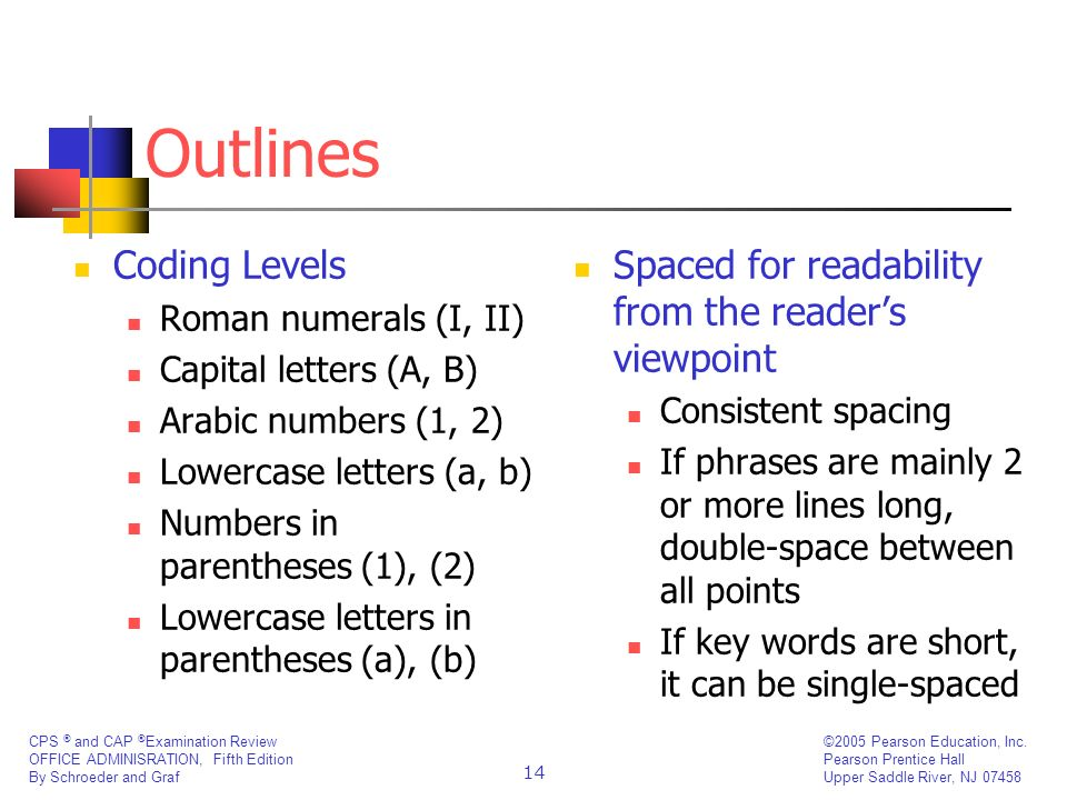 Outlines Coding Levels