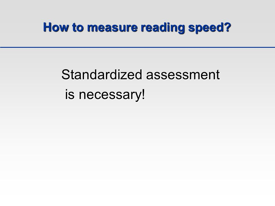 How to measure reading speed