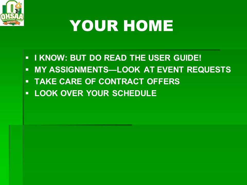 YOUR HOME I KNOW: BUT DO READ THE USER GUIDE!