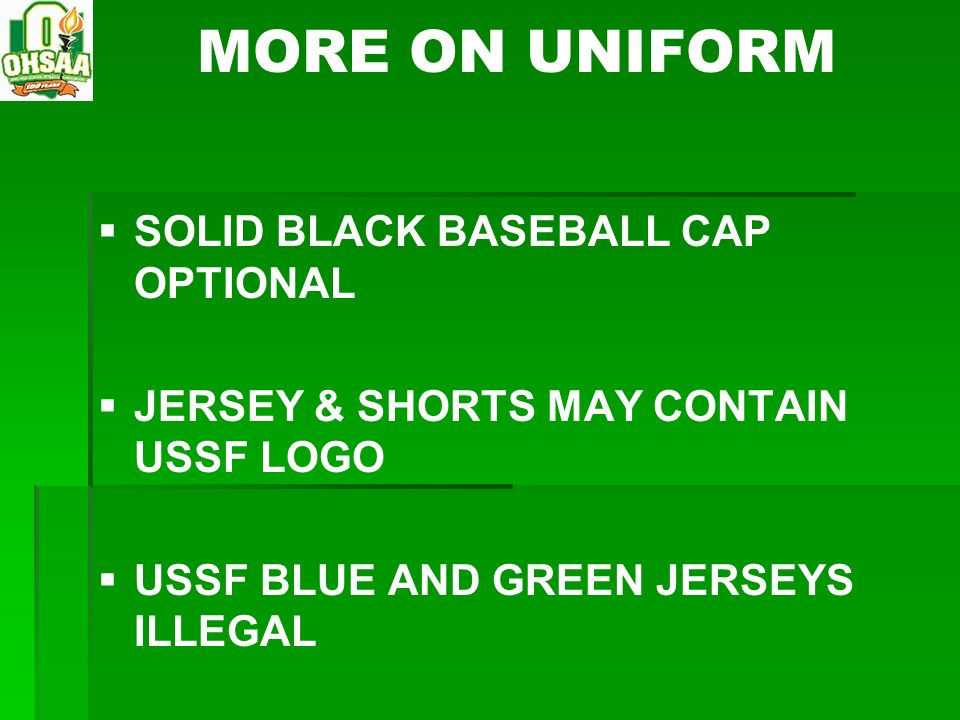 MORE ON UNIFORM SOLID BLACK BASEBALL CAP OPTIONAL
