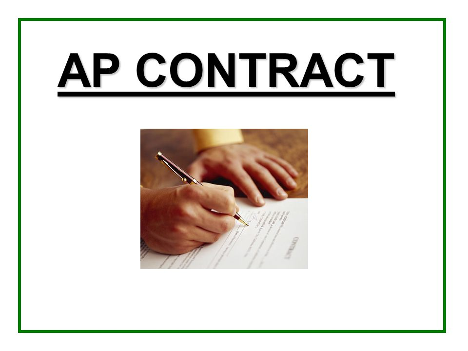 AP CONTRACT