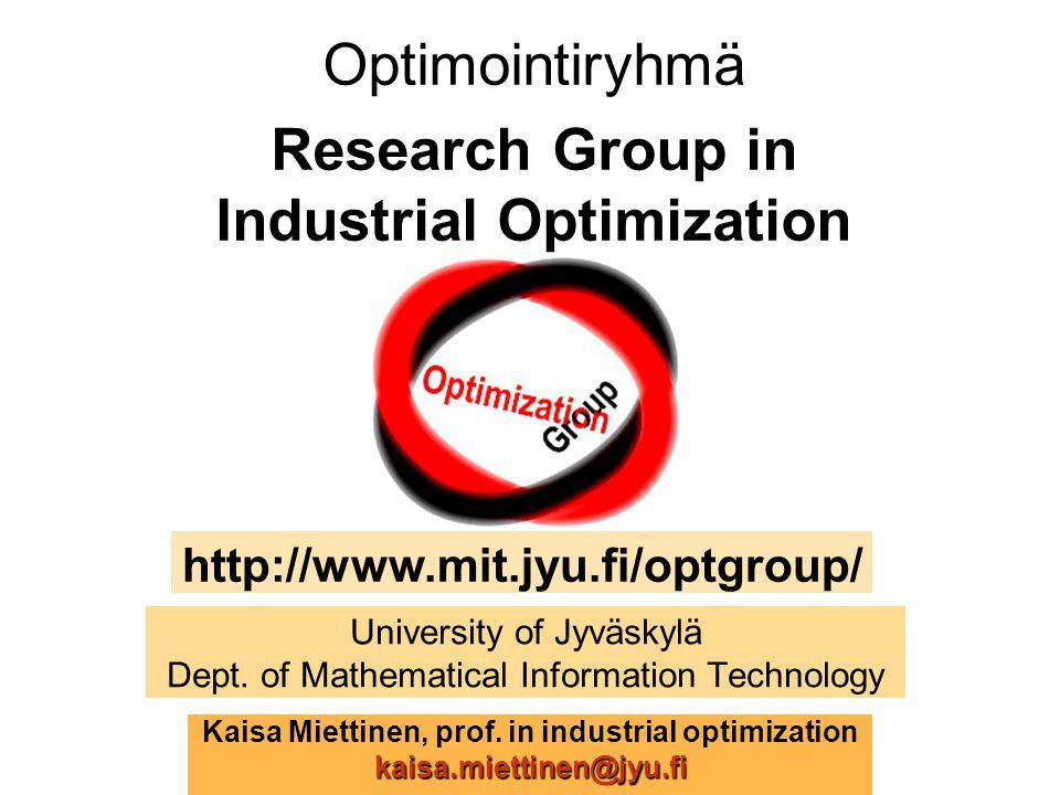 University of Jyväskylä Dept. of Mathematical Information Technology