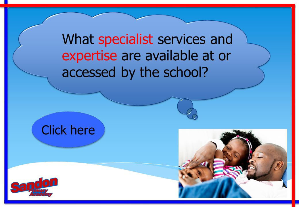 What specialist services and expertise are available at or accessed by the school