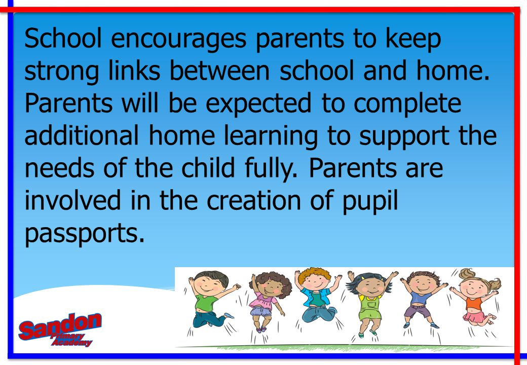School encourages parents to keep strong links between school and home