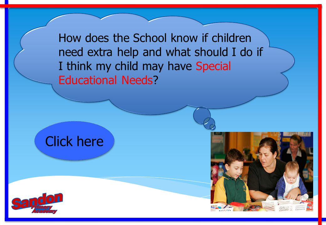 How does the School know if children need extra help and what should I do if I think my child may have Special Educational Needs
