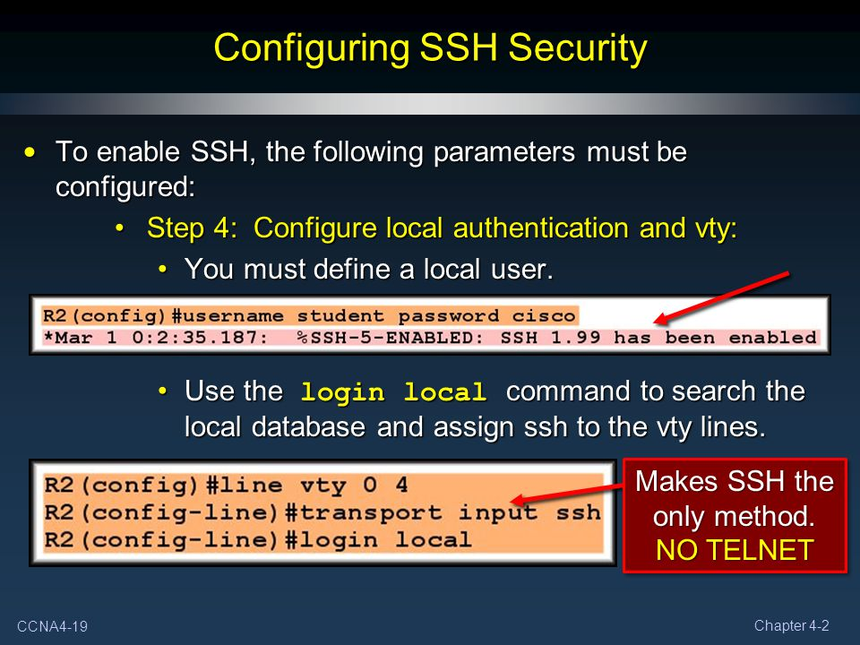 Configuring SSH Security