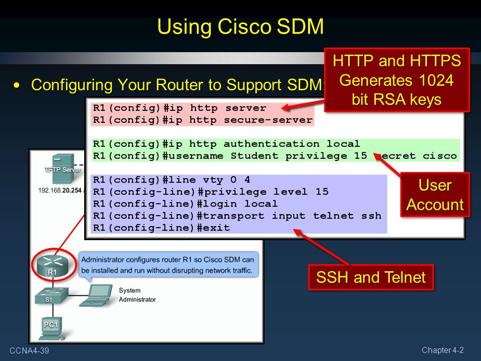 Using Cisco SDM HTTP and HTTPS Generates 1024 bit RSA keys