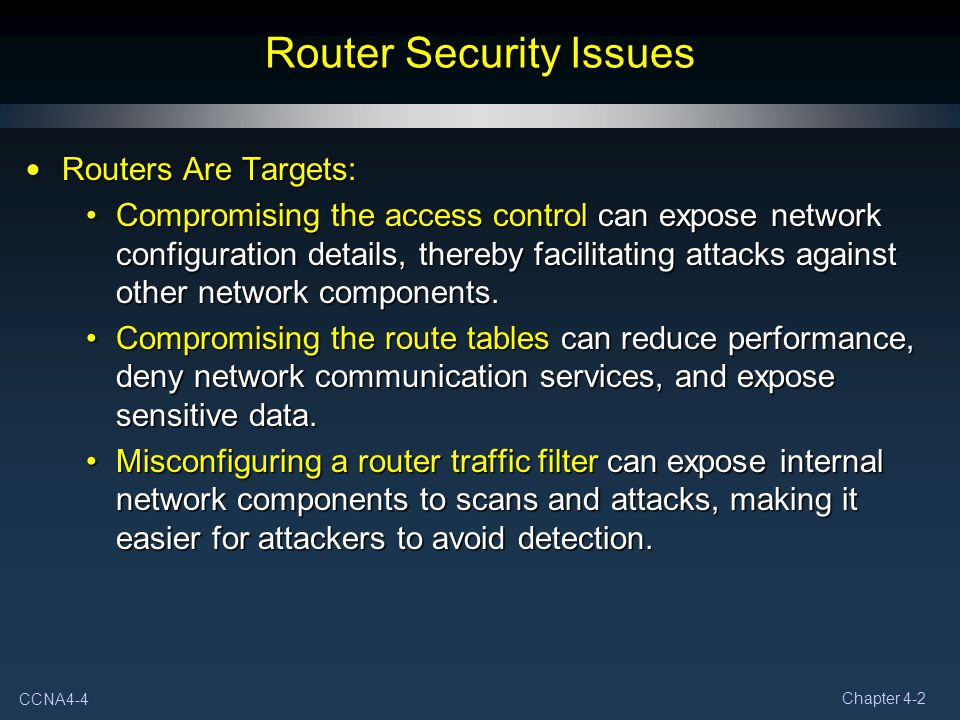 Router Security Issues