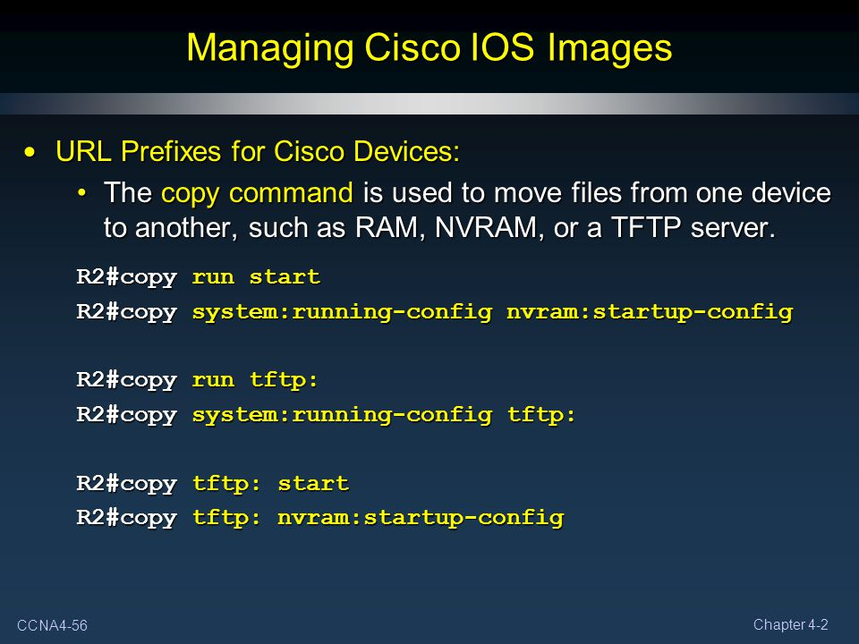 Managing Cisco IOS Images