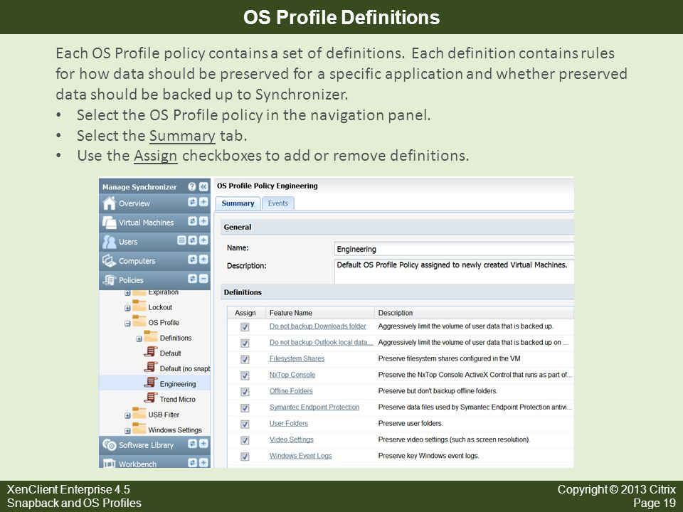 OS Profile Definitions