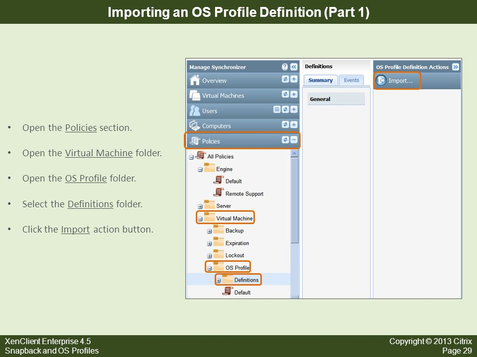 Importing an OS Profile Definition (Part 1)