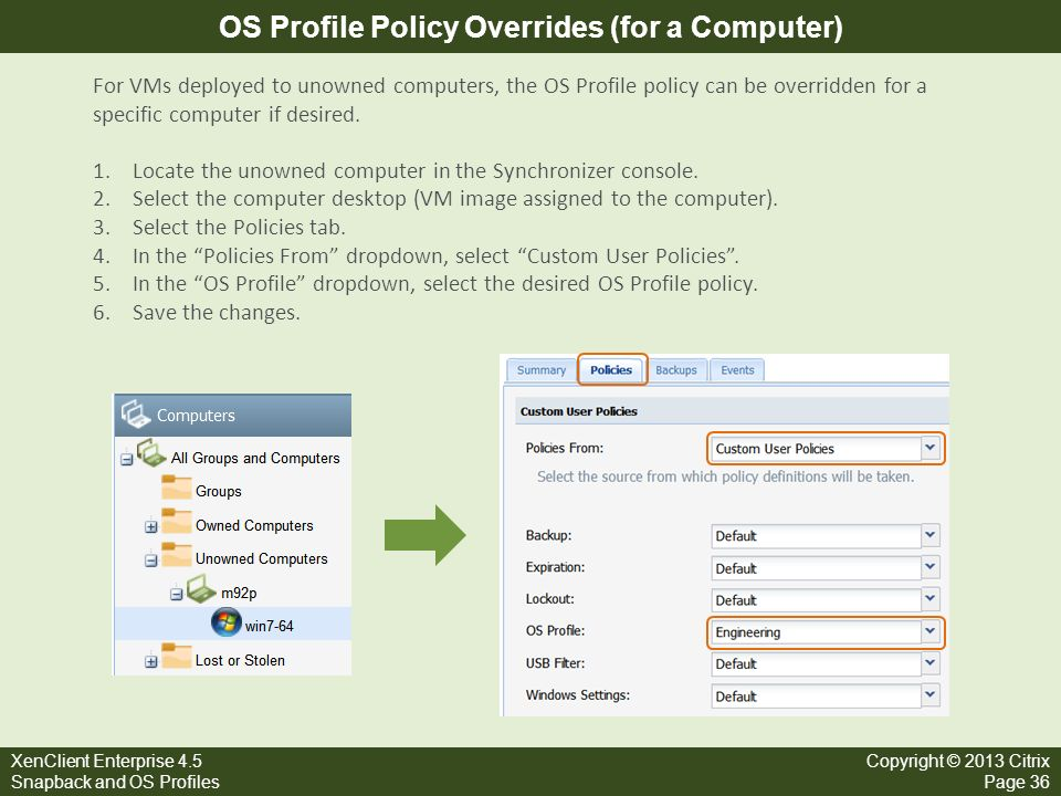 OS Profile Policy Overrides (for a Computer)