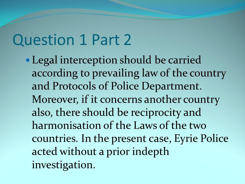 Question 1 Part 2