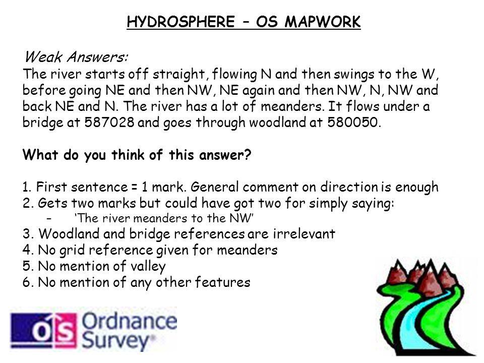 HYDROSPHERE – OS MAPWORK