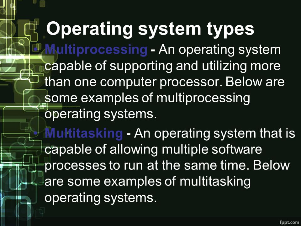 Operating system types