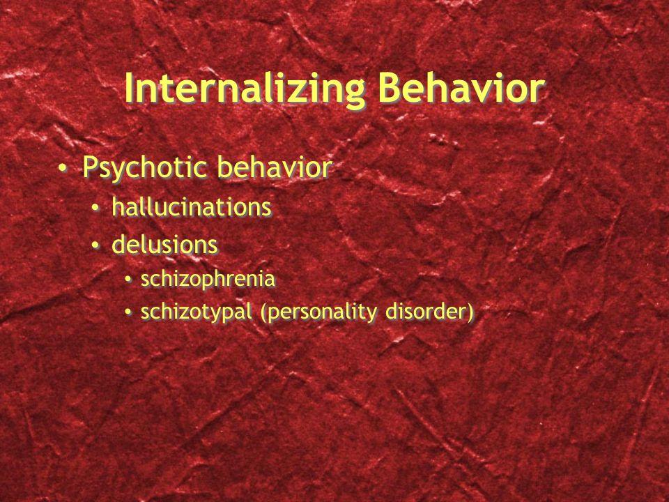 Internalizing Behavior