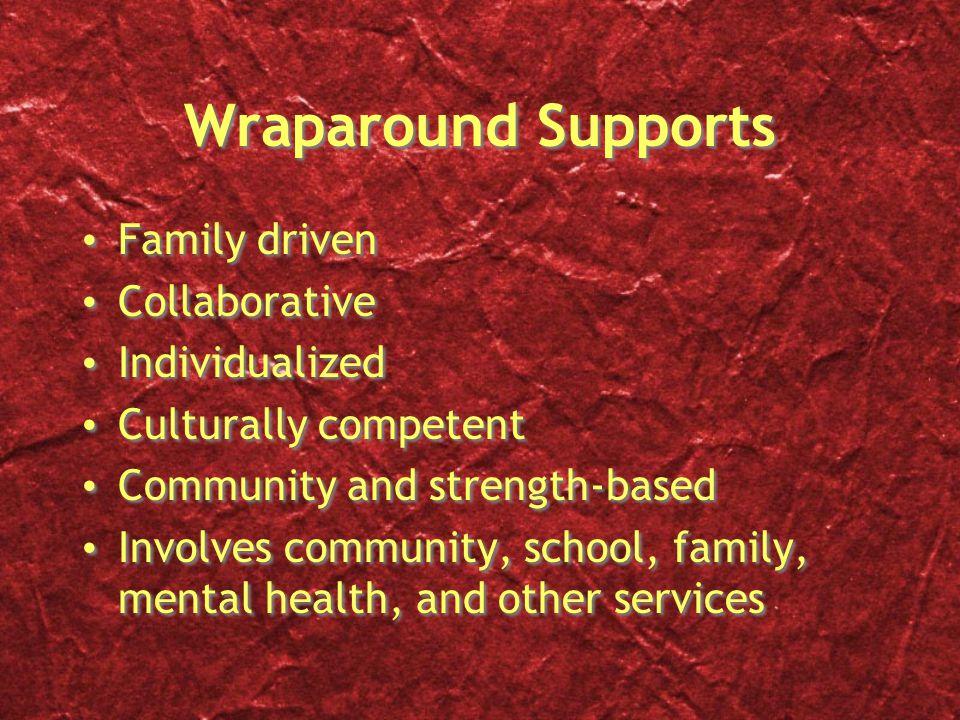 Wraparound Supports Family driven Collaborative Individualized