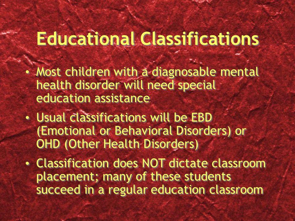Educational Classifications