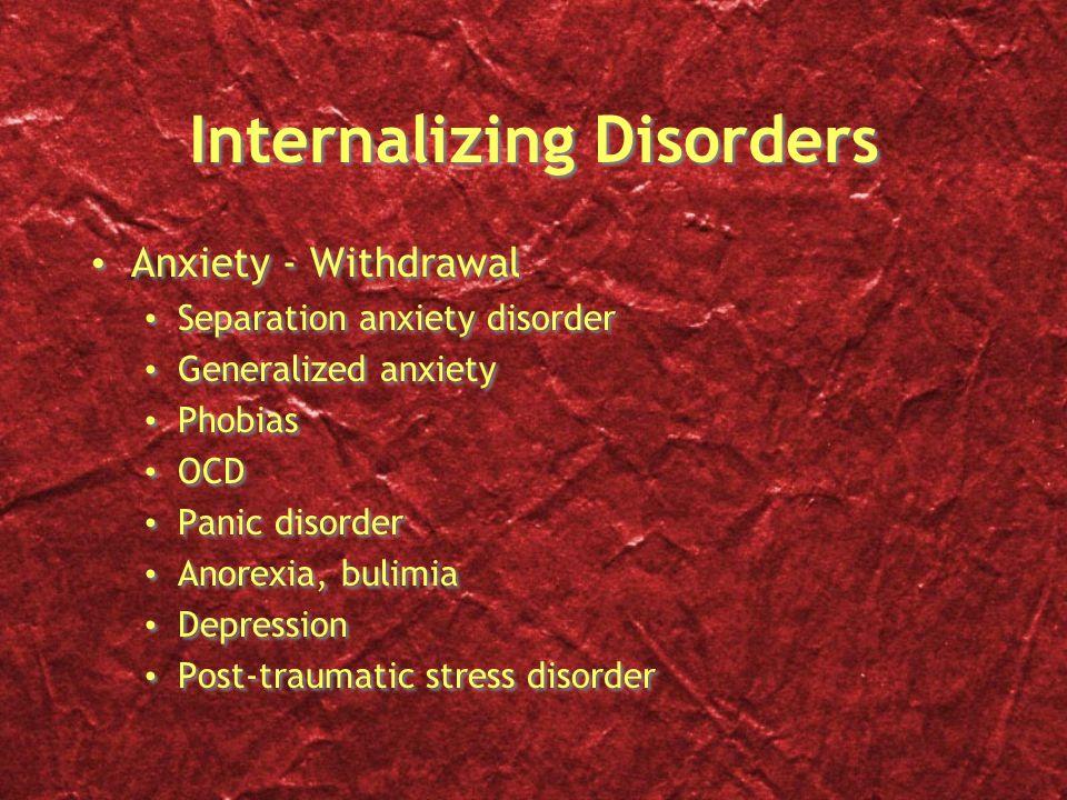 Internalizing Disorders