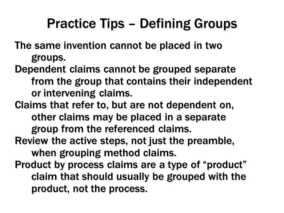Practice Tips – Defining Groups