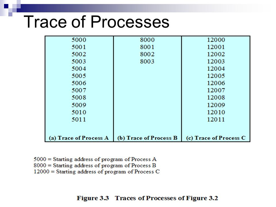 Trace of Processes