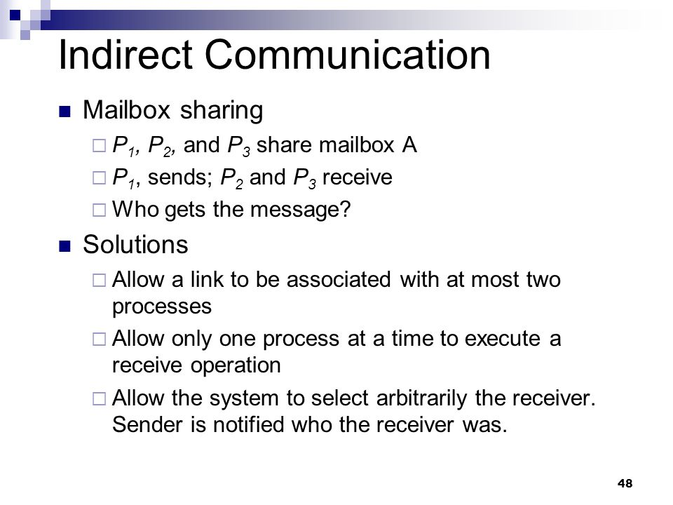Indirect Communication