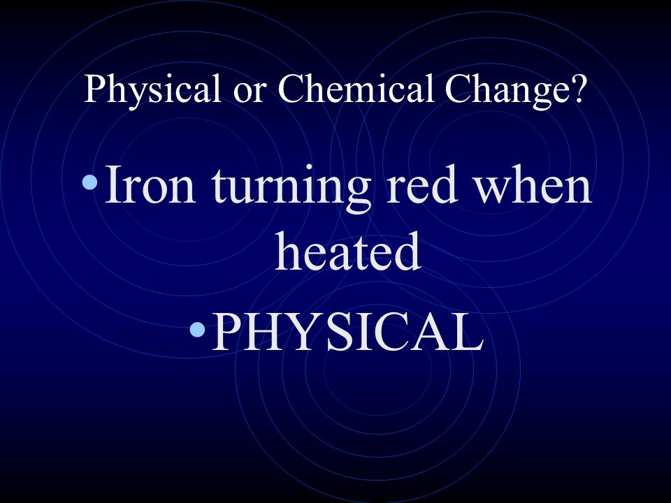 Iron turning red when heated PHYSICAL