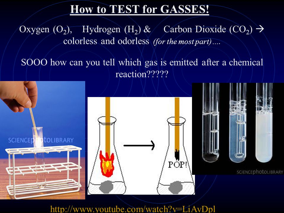 How to TEST for GASSES! Oxygen (O2), Hydrogen (H2) & Carbon Dioxide (CO2)  colorless and odorless (for the most part)….