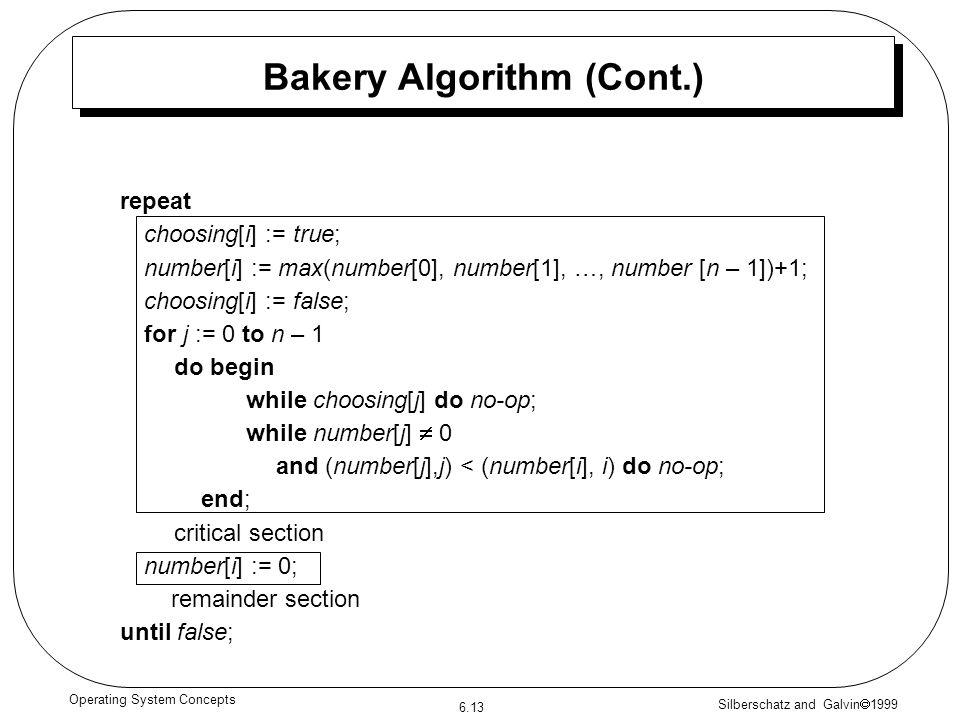 Bakery Algorithm (Cont.)