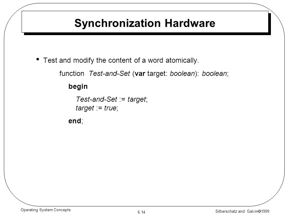 Synchronization Hardware