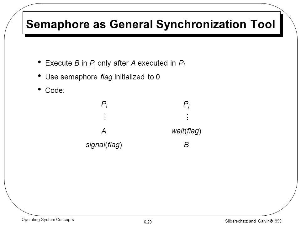 Semaphore as General Synchronization Tool