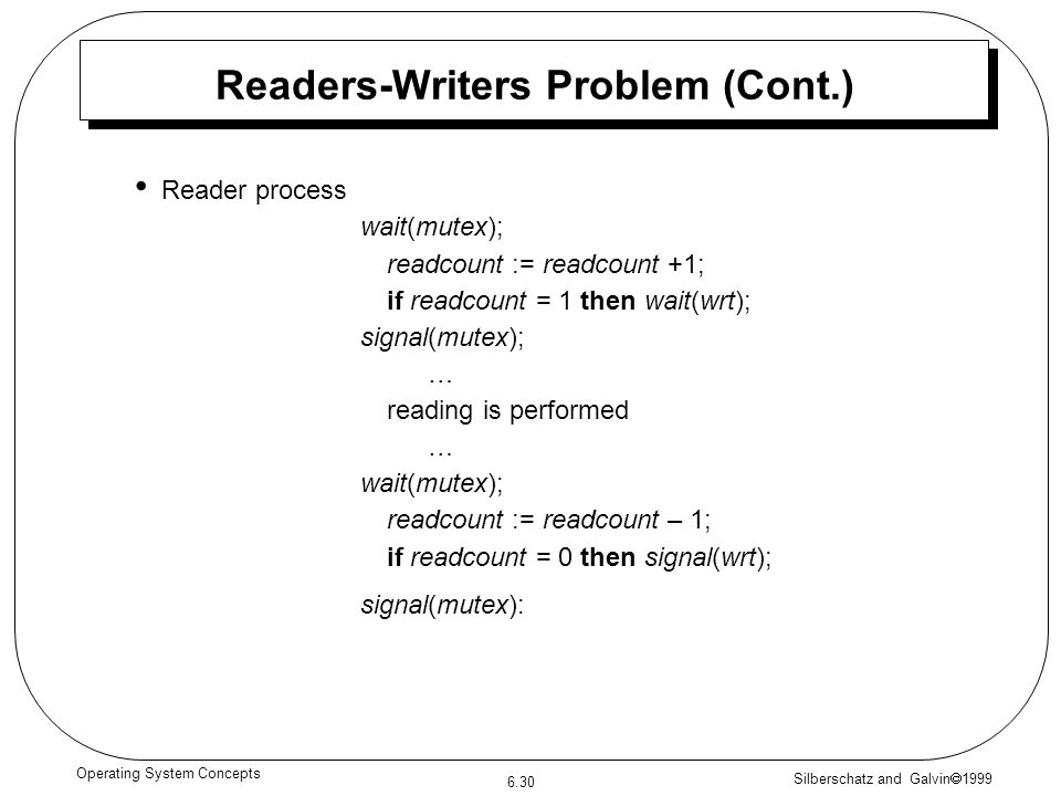 Readers-Writers Problem (Cont.)