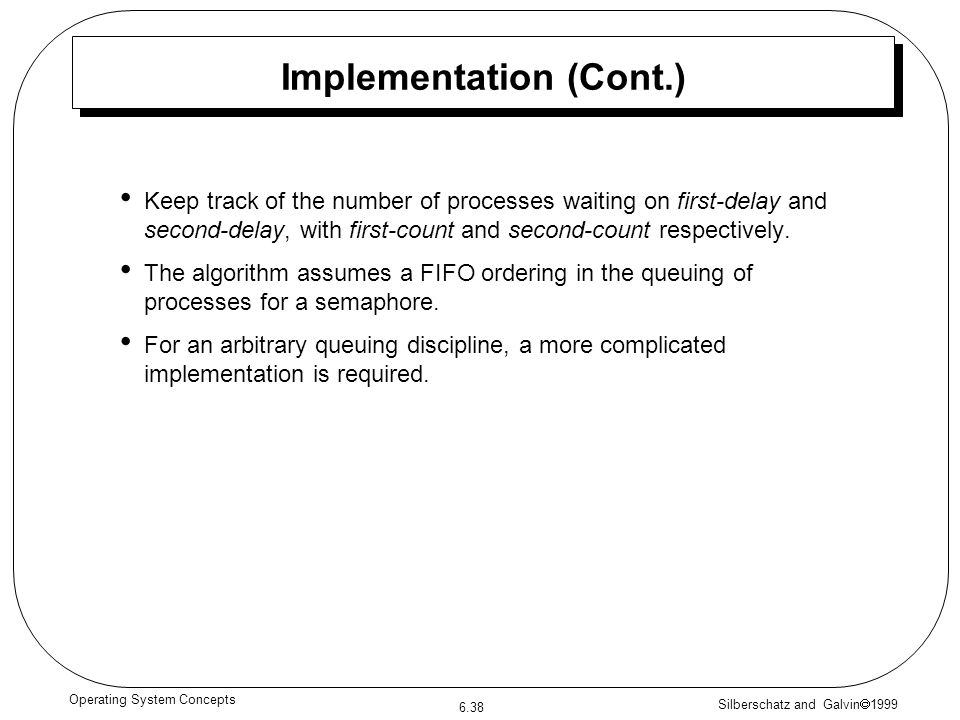 Implementation (Cont.)