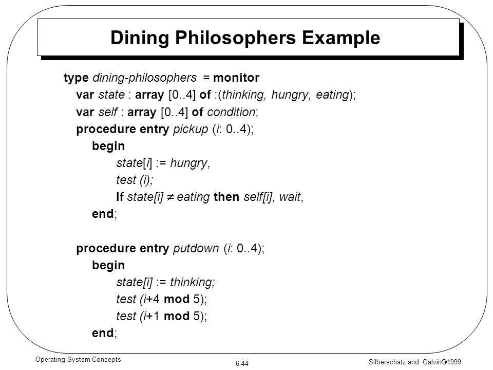 Dining Philosophers Example