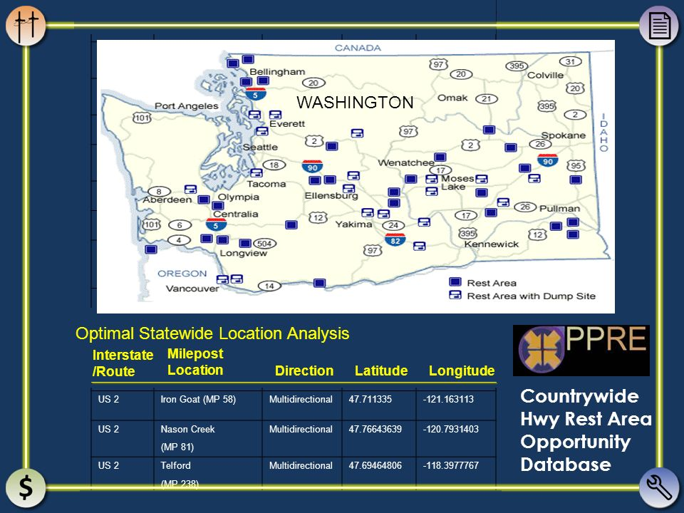 PPRE Countrywide Hwy Rest Area Opportunity Database