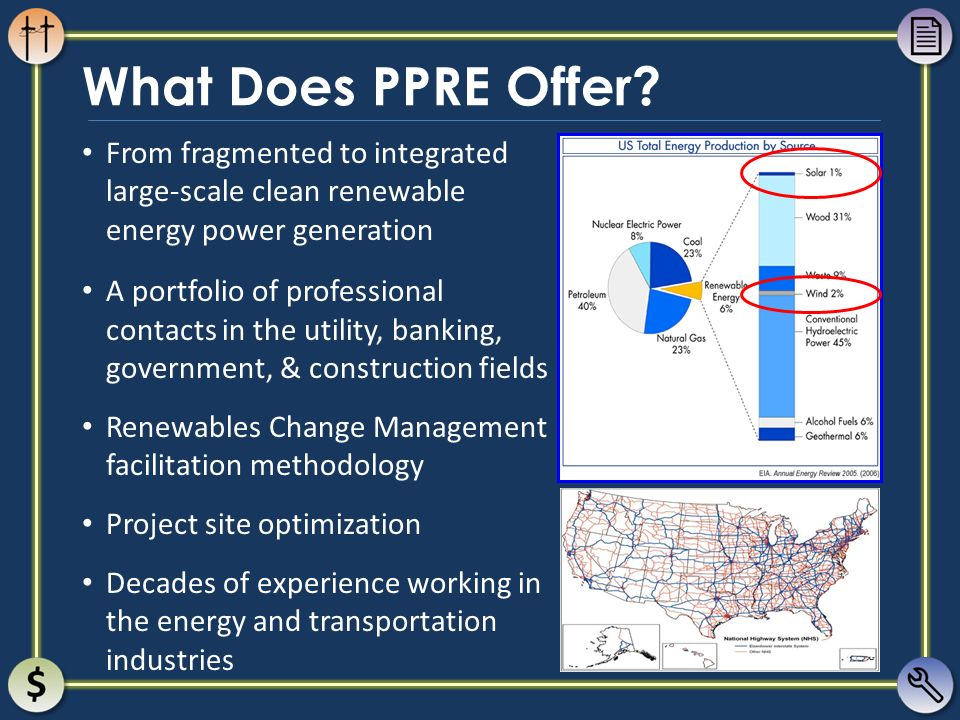 What Does PPRE Offer From fragmented to integrated large-scale clean renewable energy power generation.