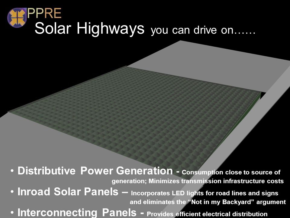 Solar Highways you can drive on……
